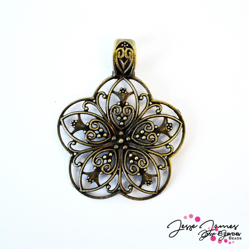 Metal Flower Pendant