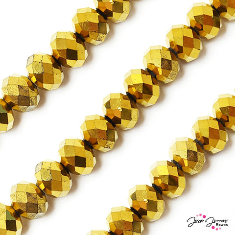 Go For The Gold Big Boy 14mm Rondelle Glass Beads
