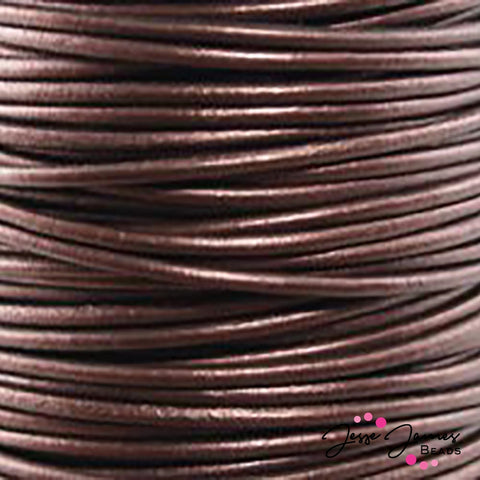 Leather Cord Metallic Maroon 0.5 MM