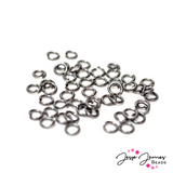 4 mm Black Jump Rings