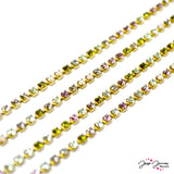 Preciosa Multicolored Silky Cup Chain