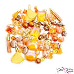 Mini Bead Mix in Orange Bell Pepper