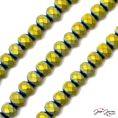Oxidized Gold 12MM Glass Bead Set