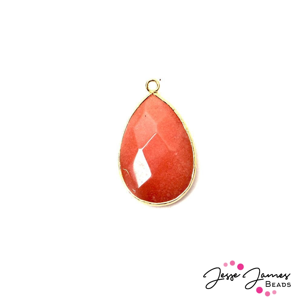 Passionfruit Pink Stone Agate Pendant