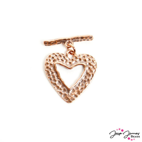 Piece Of My Heart Toggle Clasp in Bronze
