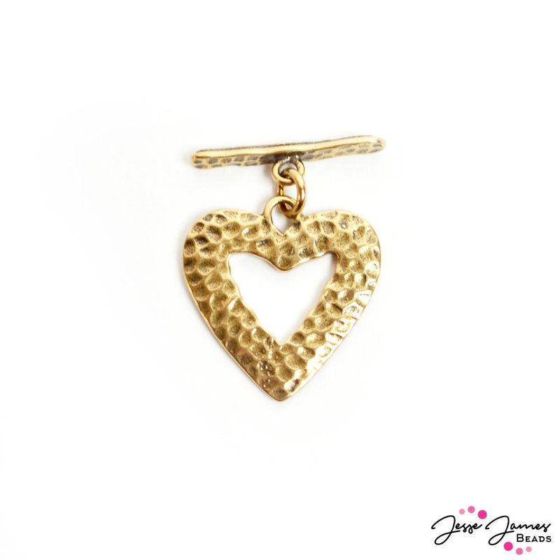 Piece Of My Heart Toggle Clasp In Gold
