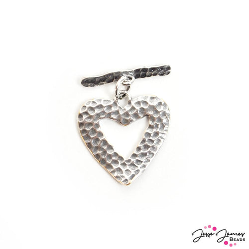 Piece Of My Heart Toggle Clasp In Silver