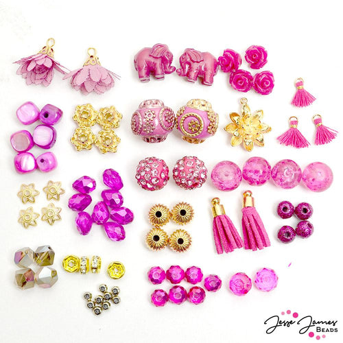 Mini Bead Mix in Pink Dragonfruit