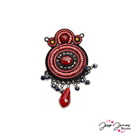 Play With Fire Soutache Pendant