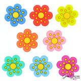 Polka Dot Flowers Embellishments