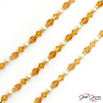 Crystal Colors Bead Strand Ft. Preciosa in Orange Creme Dream
