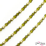 Crystal Colors Bead Strand Ft. Preciosa in Sage