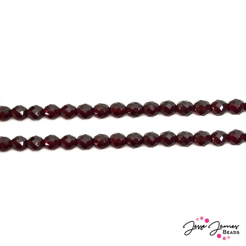 Red Garnet 8mm Fire Polish Czech Beads