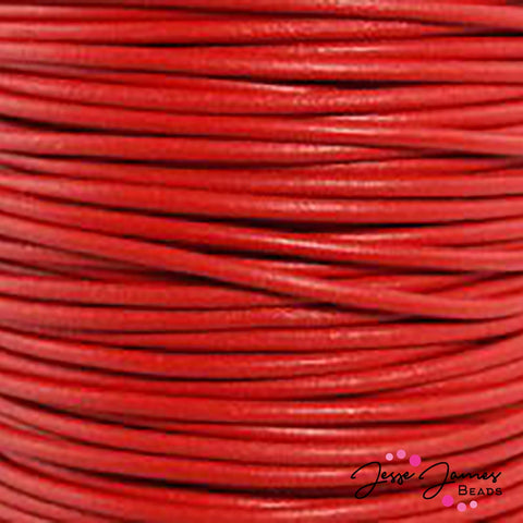 Leather Cord Red 0.5 MM
