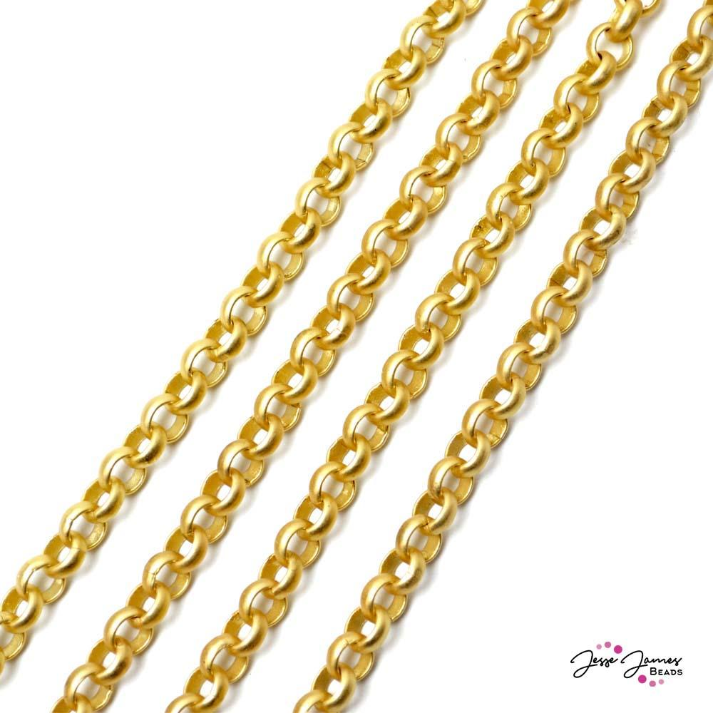 Rolo Chain in Matte Gold