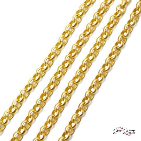 Chain Rolo in Matte Gold