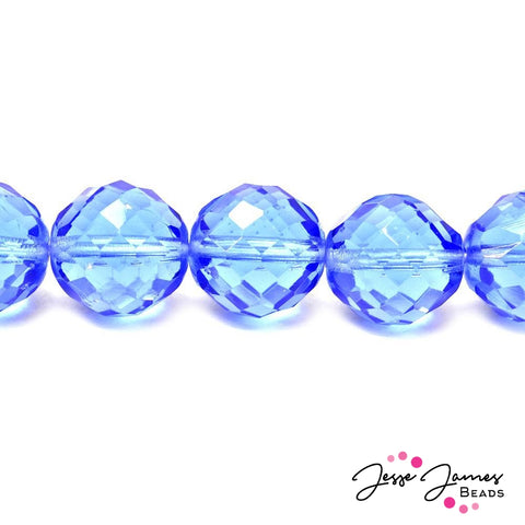 Blue Sapphire Big Boy Czech 18mm Beads