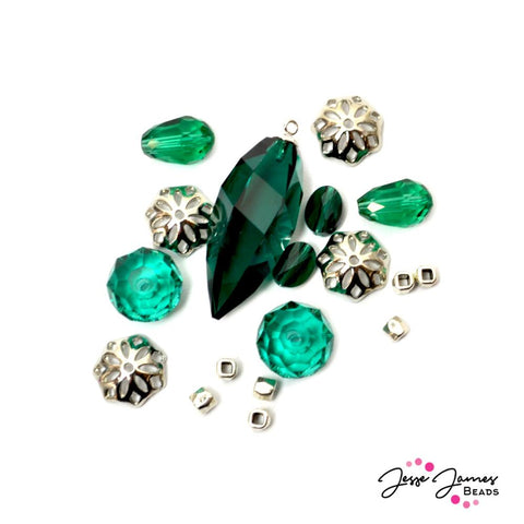 Bead Mix In Emerald Queen Feat Swarovski