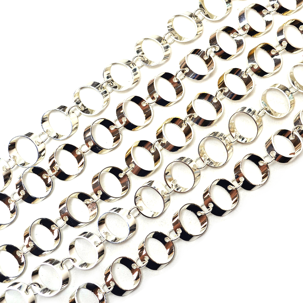 Silver Contemporary Cable Metal Chain