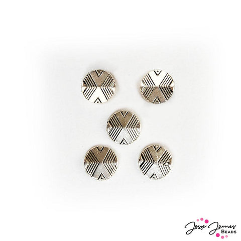 Geometric Metal Bead Set