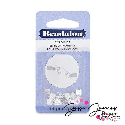 Beadalon Silver Cord Ends 1.9mm