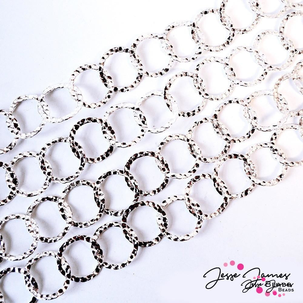 Silver Hammered Metal Chain