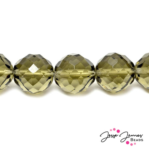 Smoky Quartz Big Boy Czech 18mm Beads
