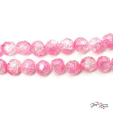 Sparkling Pink Princess 8mm Czech Glass Round Druk Beads