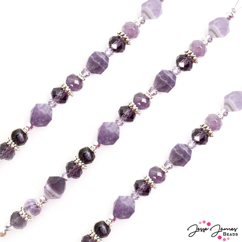 Crown Chakra Bead Strand in Amethyst
