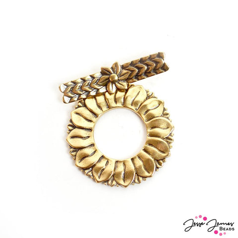 Sunflower Garden Toggle Clasp in Gold
