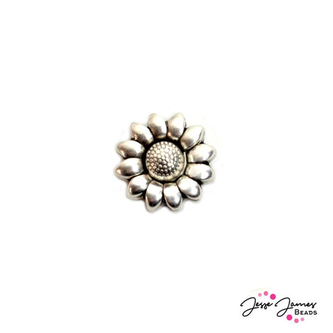 Sunflower Metal Leather Clasp