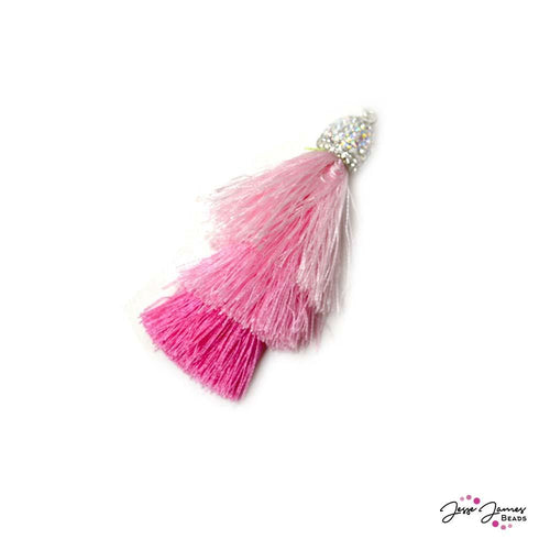 Swagger Tassels in Flamingo Pink