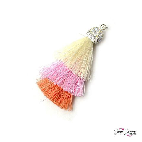 Swanky Shag Tassels in Peaches & Cream