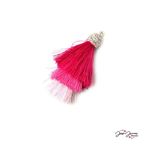 Swanky Shag Tassels in Jesse James Pink