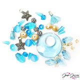 Bead Mix in Aquamarine Feat Swarovski Crystals