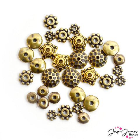 Tierracast Bead Mix in Golden Age