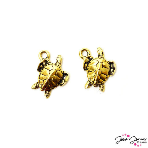 Tierracast Charm Pair in Sea Turtle