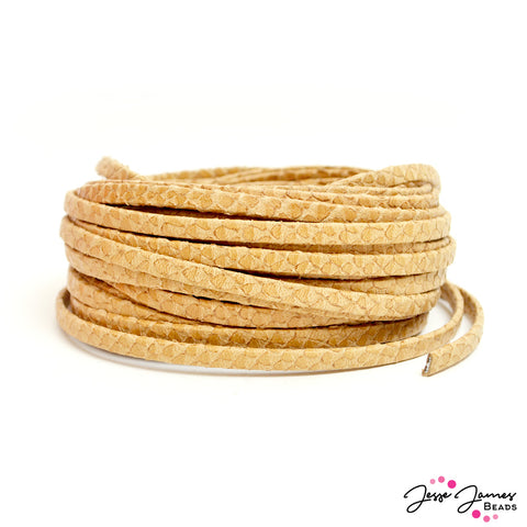 Leather Cord in Egyptian Style Camel
