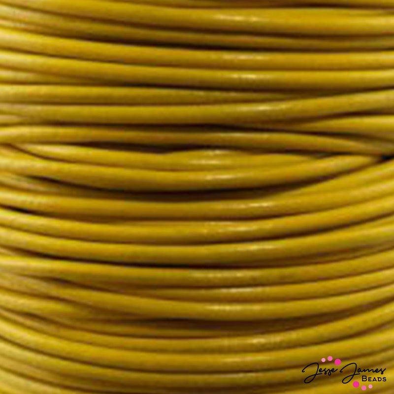 Yellow 2.0 MM Leather Cord