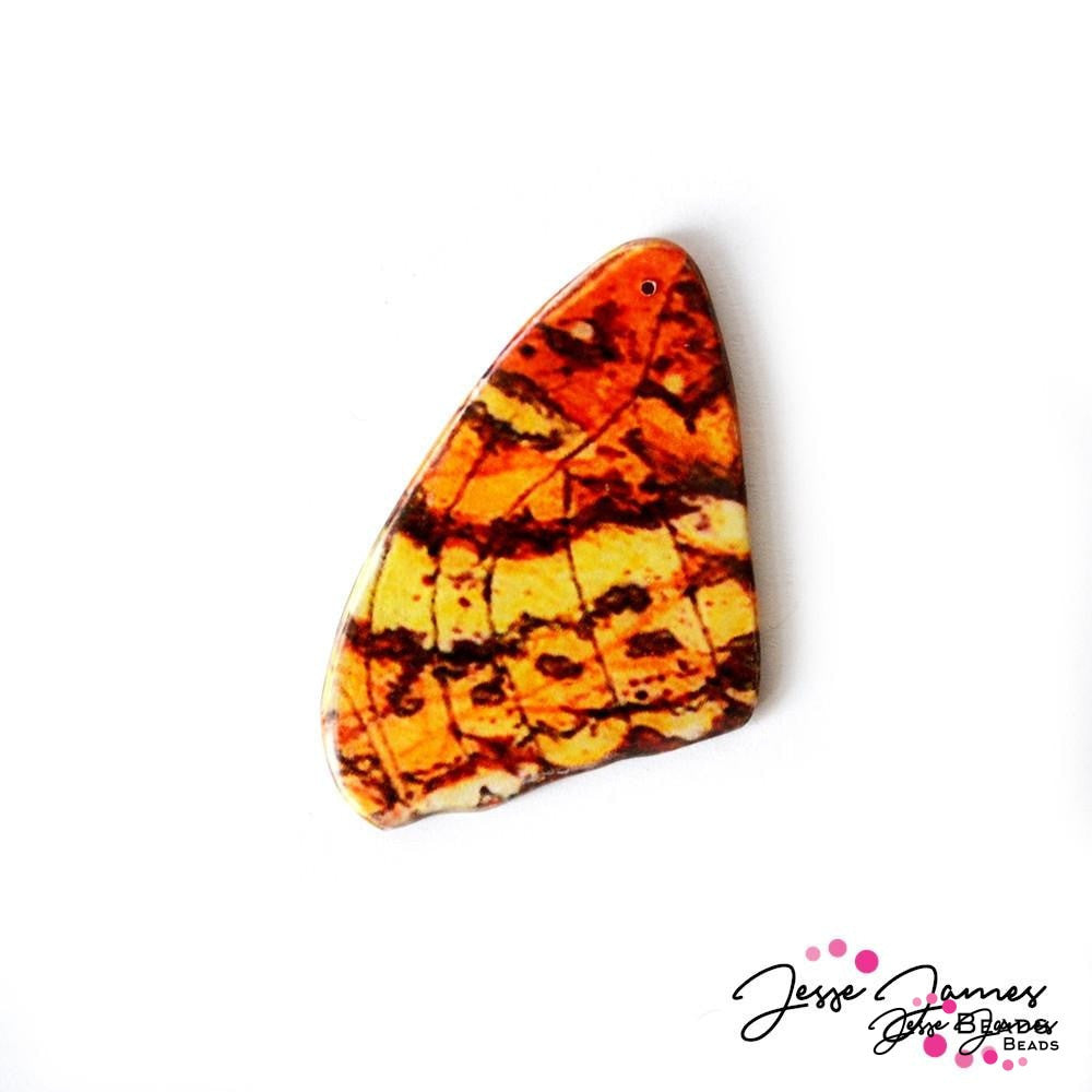 Orange Tiger Butterfly Pendant
