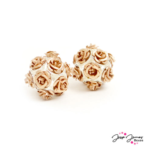 Feeling Rosy Yes Way Rosé Rose Bead Pair