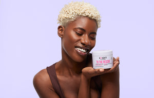 Vegan cruelty free sillicone free hair mask for natural hair with any hair curl type