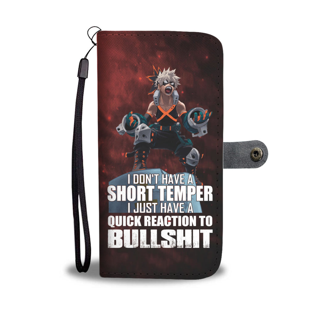 My Hero Academia -  Wallet Phone Case #Bakugou #Short temper