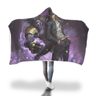 Jojo Bizarre Adventure Stardust Crusaders - Hooded Blanket