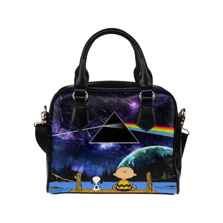 Snoopy, I Love Pink Floyd - Shoulder Handbag