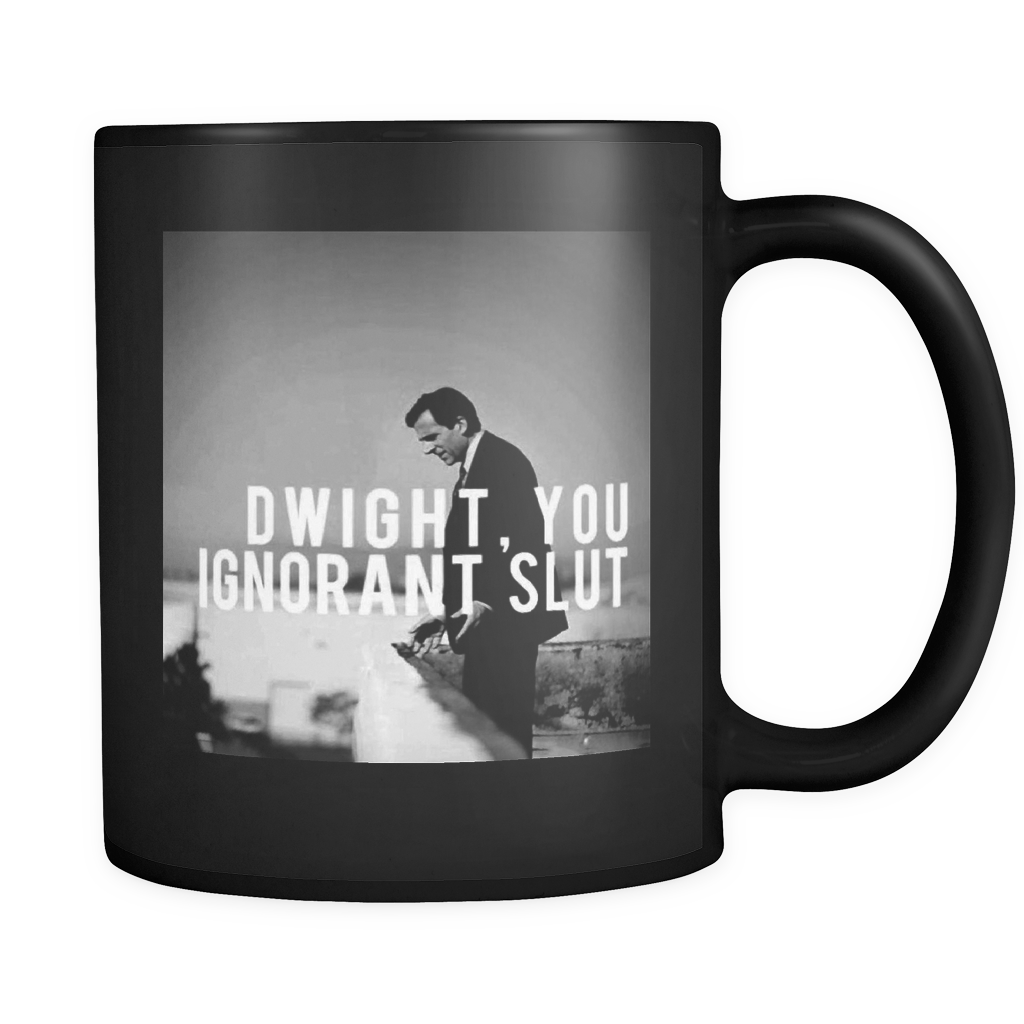 Dwight, You Ignorant Slut, The office mug, Coworker Gift, the Office TV Show, Beets, Schrute Farms, Battlestar Galactica, Office Supplies