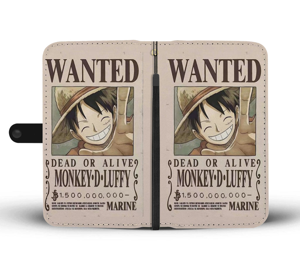 One Piece - Luffy 1.5 Billion Bounty - Wallet Phone Case