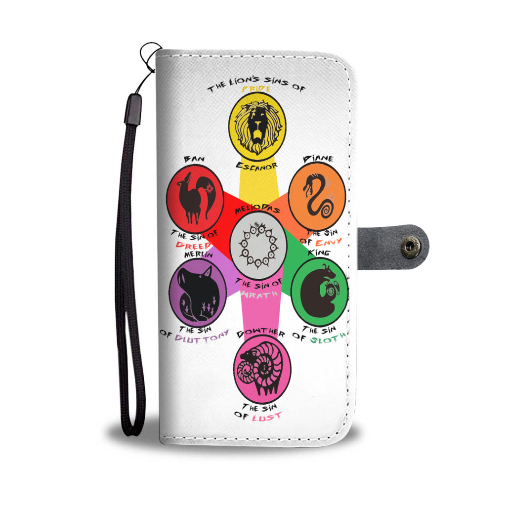 7 Deadly Sins - Wallet Phone Case - #Sin Symbols