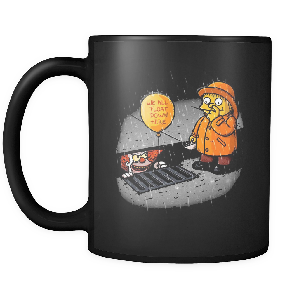 The Simpsons Mug, Bart Simpson, Homer Simpson, Lisa Simpson, Marge Simpson, Stephen King, Mr Burns, Flanders, Pennywise