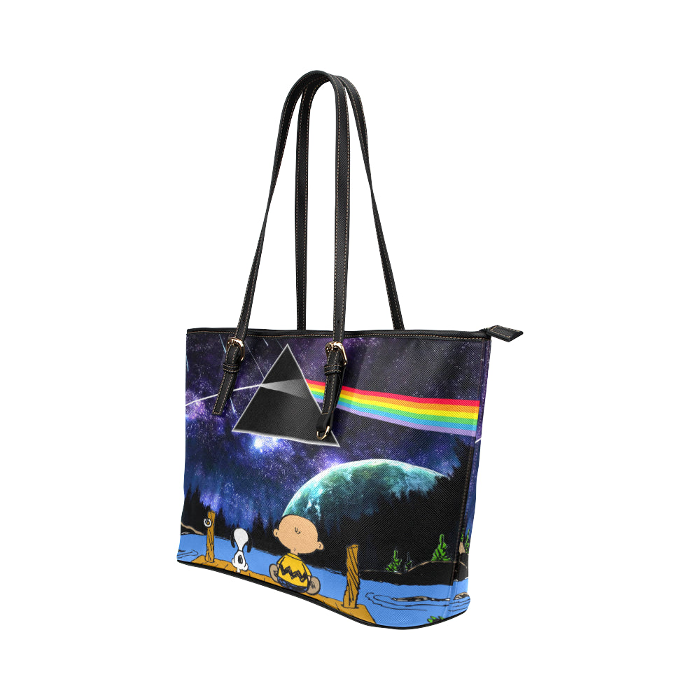 Snoopy, I love Pink Floyd - Tote Bag